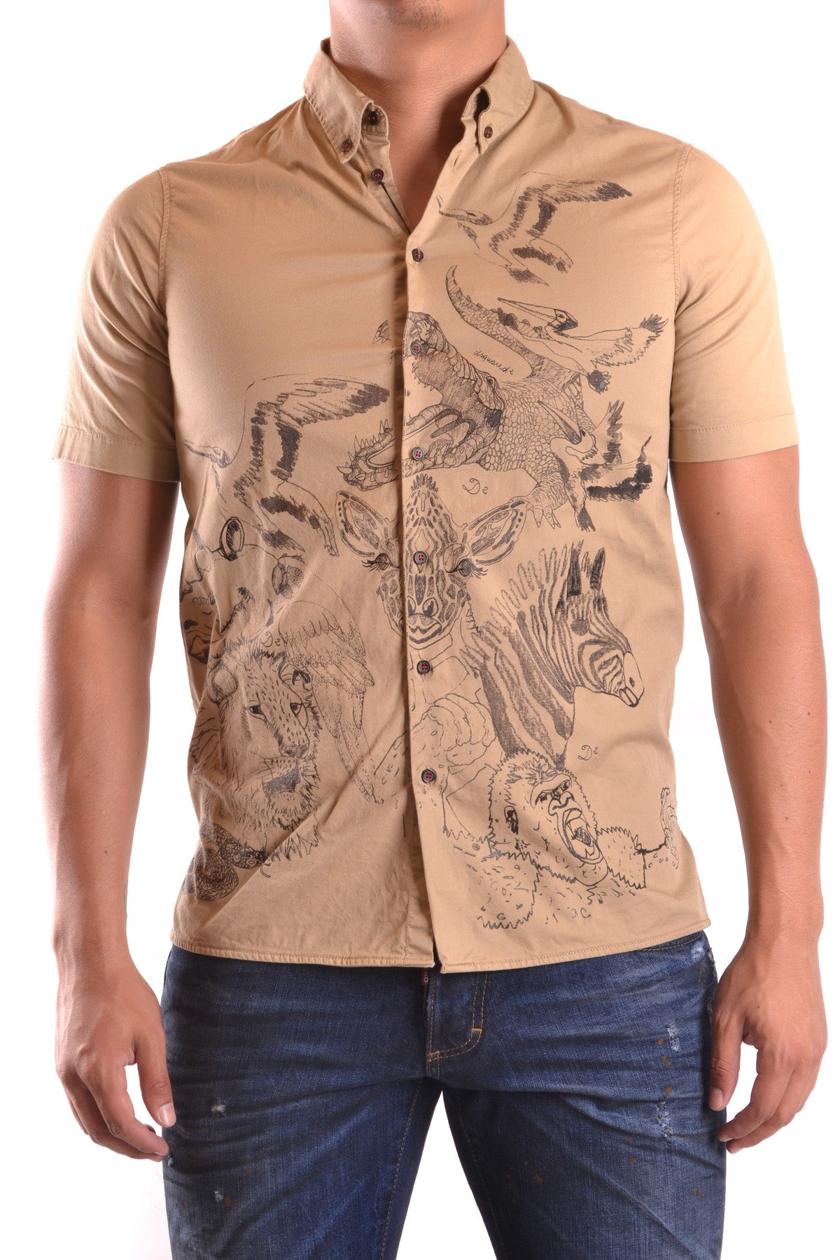 Shirt Dsquared-Shirts - MAN-44-Product Details Terms: New With LabelYear: 2017Main Color: BeigeGender: ManMade In: ItalySize: ItSeason: Spring / SummerClothing Type: CamiciaComposition: Cotton 97%, Elastane 3%-Keyomi-Sook