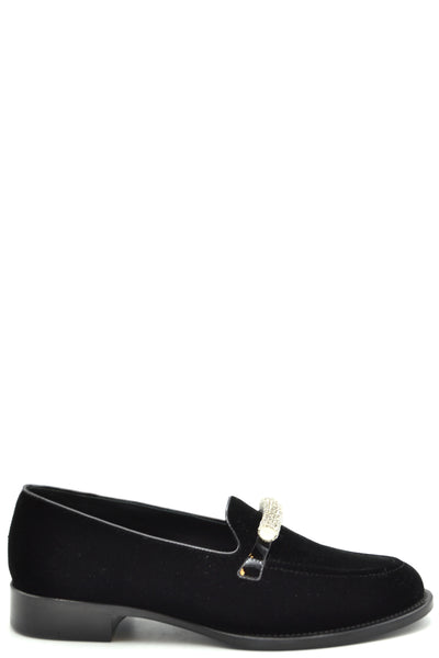 Shoes Giuseppe Zanotti-Classic flats - WOMAN-39-Product Details Type Of Accessory: ShoesTerms: New With LabelYear: 2018Main Color: BlackGender: WomanMade In: ItalyManufacturer Part Number: I860016Size: EuSeason: Fall / WinterComposition: Chamois 100%-Keyomi-Sook