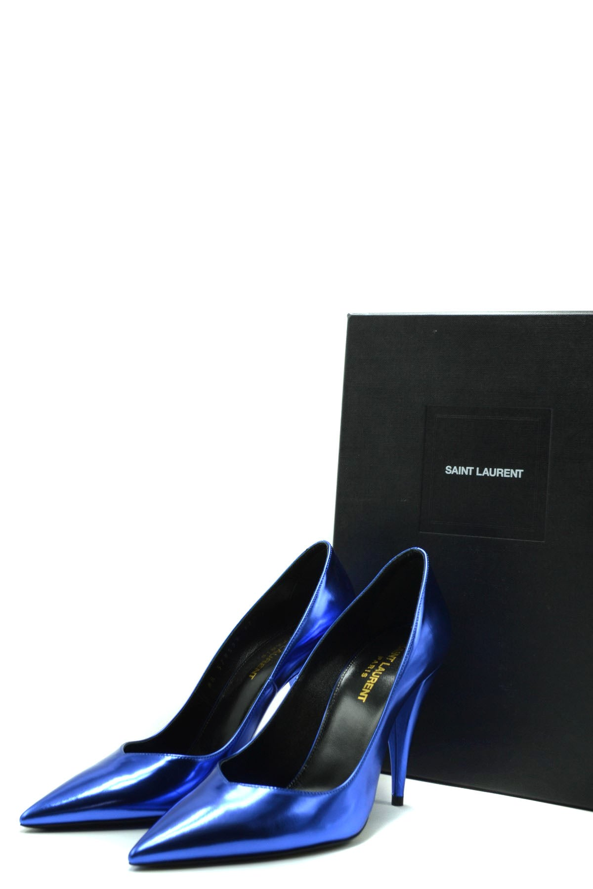 Shoes Saint Laurent--Product Details Manufacturer Part Number: 578599 Aal00 4550Year: 2020Composition: Leather 100%Size: EuHeel'S Height: 10Gender: WomanMade In: ItalySeason: Fall / WinterType Of Accessory: ShoesMain Color: BlueTerms: New With Label-Keyomi-Sook