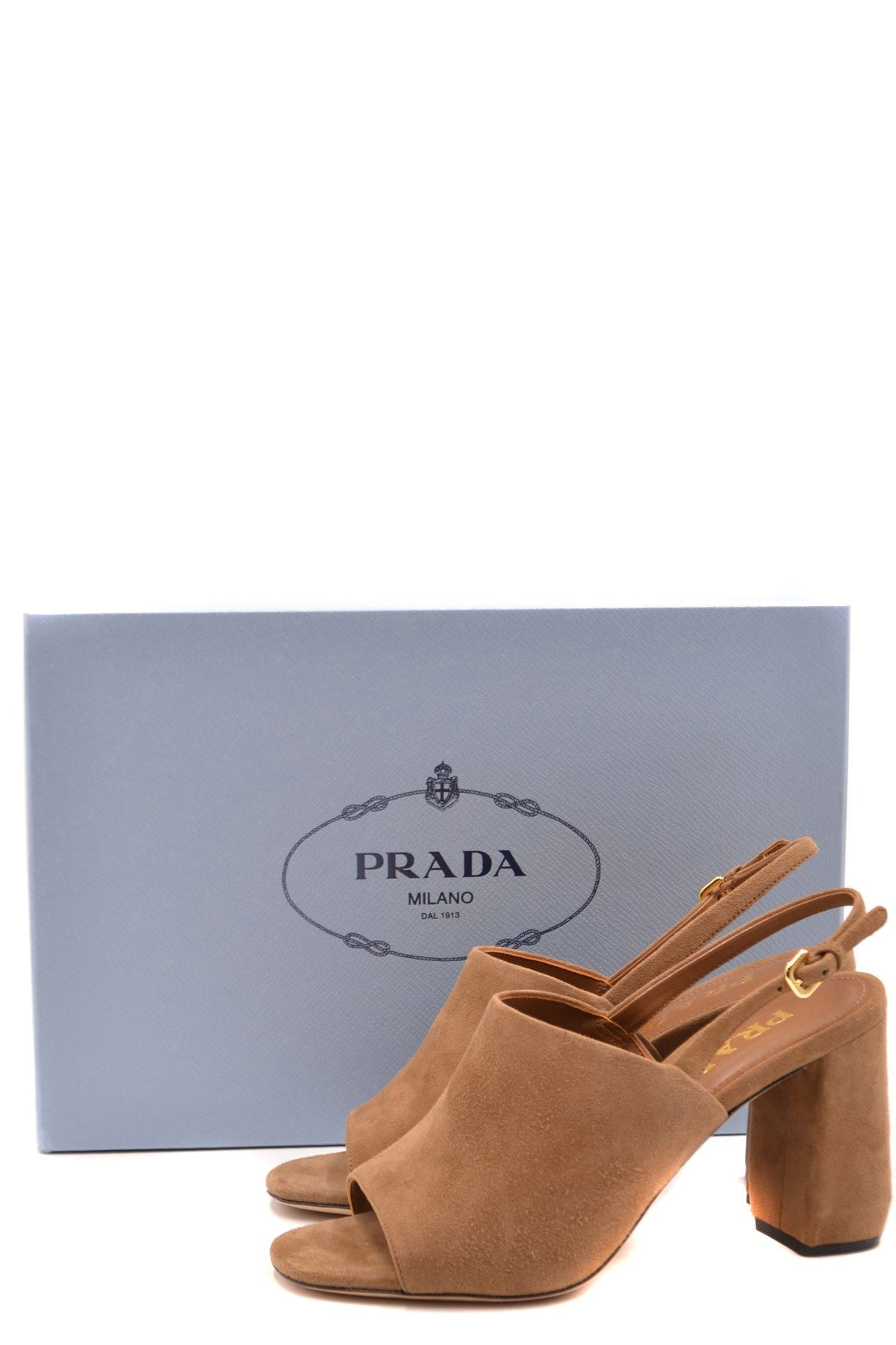 Shoes Prada-Women's Fashion - Women's Shoes - Women's Sandals-Product Details Terms: New With LabelMain Color: MarrónType Of Accessory: ShoesSeason: Spring / SummerMade In: ItalyGender: WomanHeel'S Height: 8Size: EuComposition: Chamois 100%Year: 2020Manufacturer Part Number: 1X677L 008 F0040 05-Keyomi-Sook