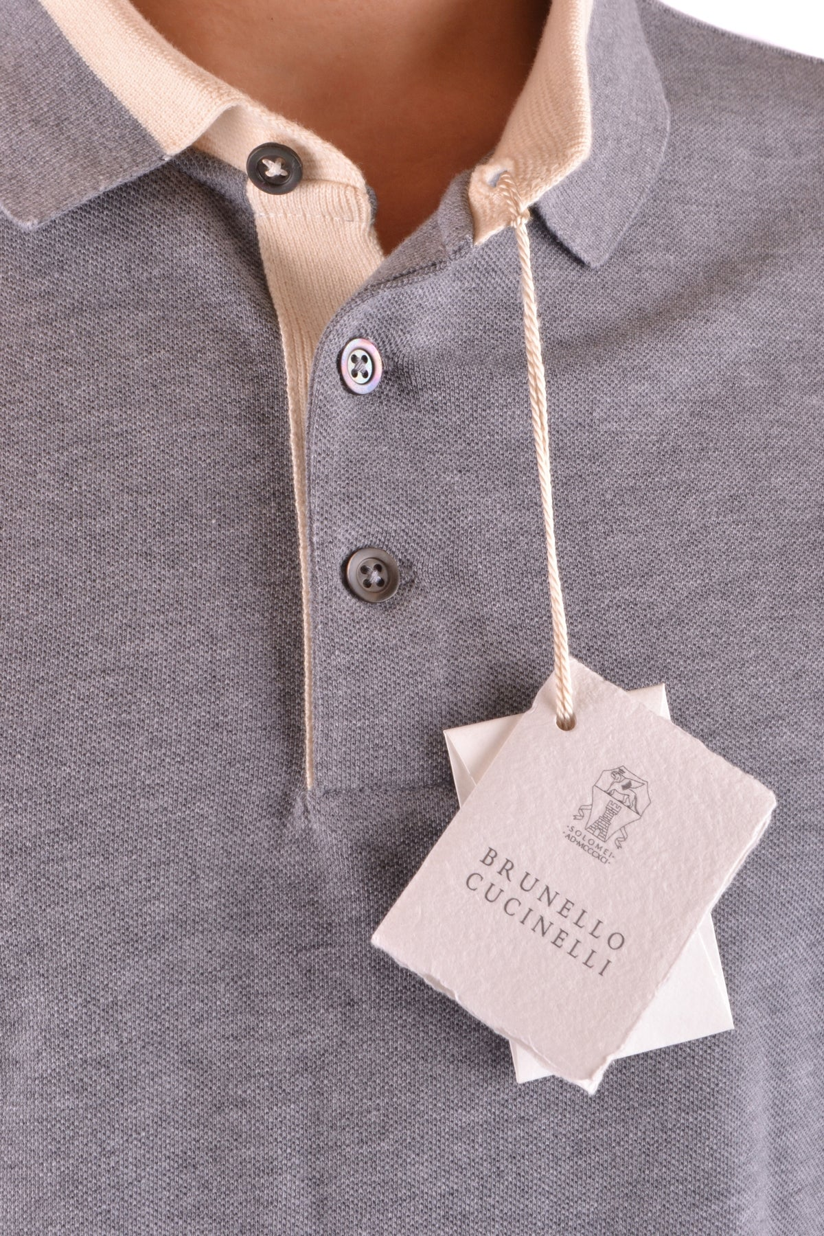 Polo Brunello Cucinelli-Sweater - MAN-Product Details Season: Spring / SummerTerms: New With LabelMain Color: GrayGender: ManMade In: ItalyManufacturer Part Number: M0T630758 Cv428Size: IntYear: 2018Clothing Type: Sweater Composition: Cotton 100%-Keyomi-Sook