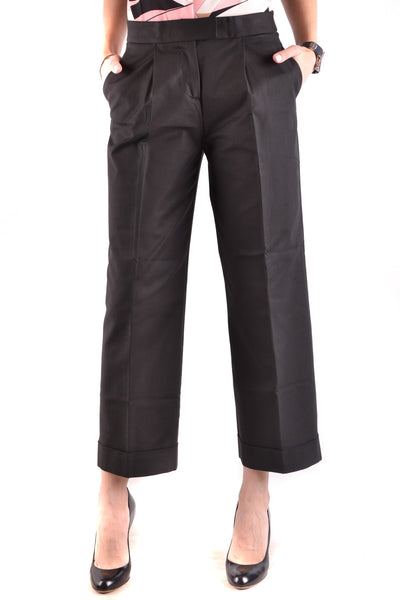 Trousers Boutique Moschino-Trousers - WOMAN-38-Product Details Terms: New With LabelYear: 2017Main Color: BlackGender: WomanMade In: ItalySize: ItSeason: Spring / SummerClothing Type: TrousersComposition: Cotton 96%, Tissue 4%-Keyomi-Sook
