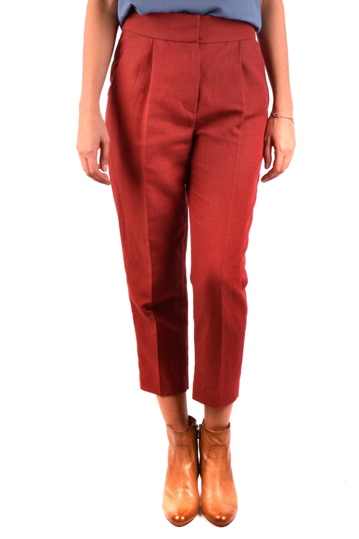 Trousers Brunello Cucinelli-Trousers - WOMAN-38-Product Details Season: Spring / SummerTerms: New With LabelMain Color: RedGender: WomanMade In: ItalyManufacturer Part Number: Mf553P6394Size: ItYear: 2018Clothing Type: TrousersComposition: Cotton 51%, Lyocell 49%-Keyomi-Sook