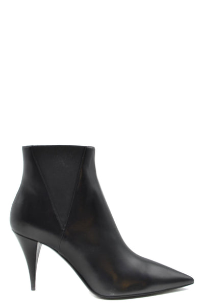 Shoes Saint Laurent-root - Women - Shoes - Booties-36.5-Product Details Terms: New With LabelMain Color: BlackType Of Accessory: BootsSeason: Spring / SummerMade In: ItalyGender: WomanHeel'S Height: 9Size: EuComposition: Leather 100%Year: 2020Manufacturer Part Number: 592447 1Fz00 1000-Keyomi-Sook