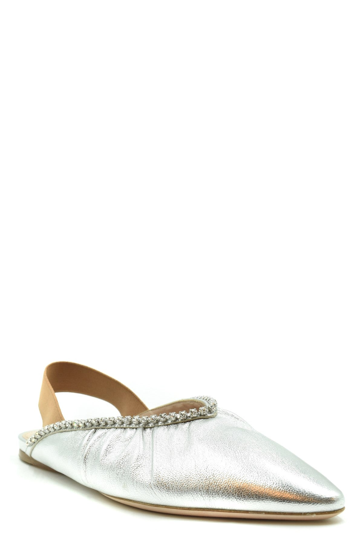 Miu Miu-Women's Fashion - Women's Shoes - Slippers-Product Details Terms: New With LabelMain Color: SilverType Of Accessory: ShoesSeason: Spring / SummerMade In: ItalyGender: WomanSize: EuComposition: Leather 100%Year: 2020Manufacturer Part Number: 5F919C-Keyomi-Sook