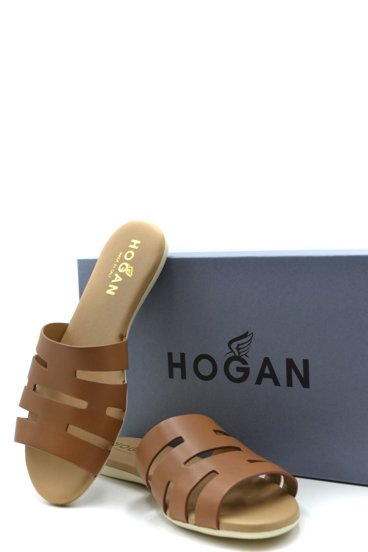 Hogan--Product Details Type Of Accessory: ShoesTerms: New With LabelYear: 2019Main Color: MarrónGender: WomanMade In: ItalyManufacturer Part Number: Hxw1330Bi90D0Wc801Size: EuSeason: Spring / SummerComposition: Leather 100%-Keyomi-Sook