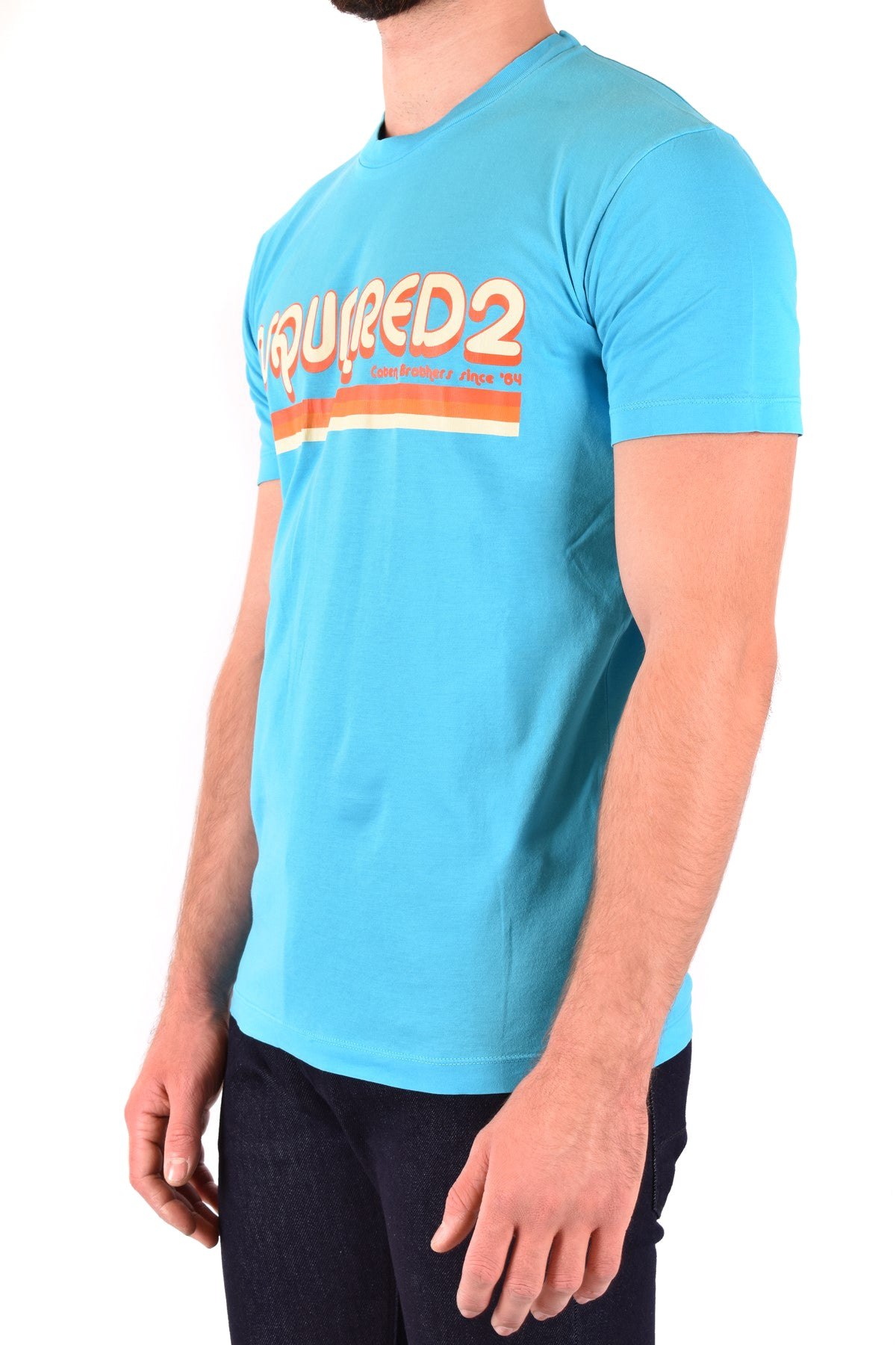 T-Shirt Dsquared-Men's Fashion - Men's Clothing - Tops & Tees - T-Shirts-Product Details Terms: New With LabelClothing Type: T-ShirtMain Color: BlueSeason: Spring / SummerMade In: ItalyGender: ManSize: IntComposition: Cotton 100%Year: 2020Manufacturer Part Number: S71Gd0887-Keyomi-Sook
