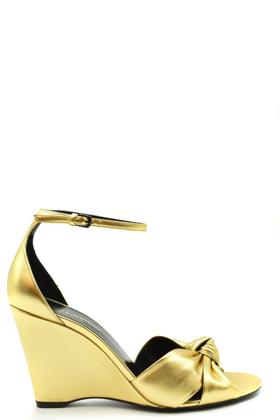 Shoes Saint Laurent-Women's Fashion - Women's Shoes - Women's Sandals-36-Product Details Terms: New With LabelMain Color: GoldType Of Accessory: ShoesSeason: Spring / SummerMade In: ItalyGender: WomanHeel'S Height: 8 CmSize: EuComposition: Leather 100%Year: 2020Manufacturer Part Number: 612390 0Xq00 8030-Keyomi-Sook