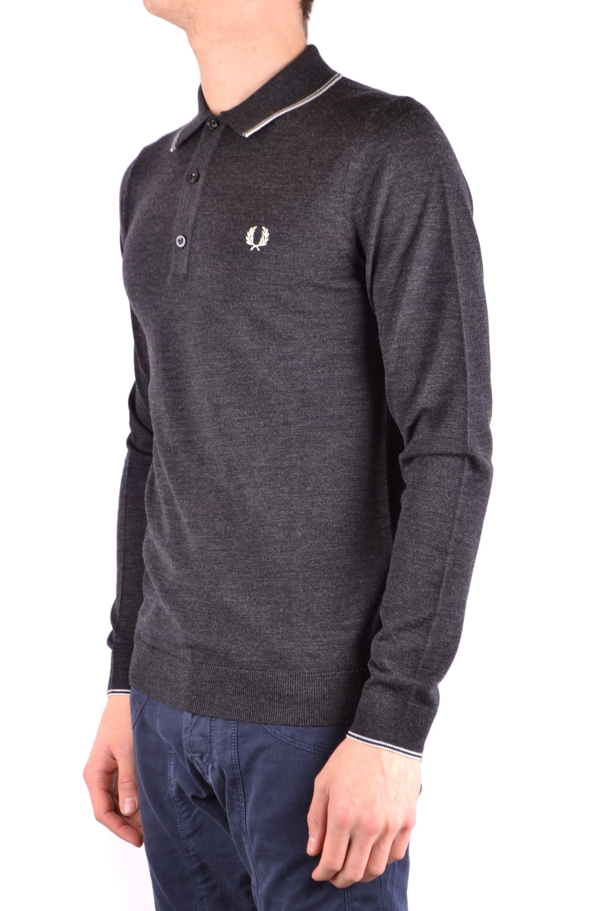 Polo Fred Perry-Polos - MAN-Product Details Terms: New With LabelYear: 2017Main Color: GraySeason: Fall / WinterMade In: ChinaSize: IntGender: ManClothing Type: PoleComposition: Merino Wool 100%-Keyomi-Sook