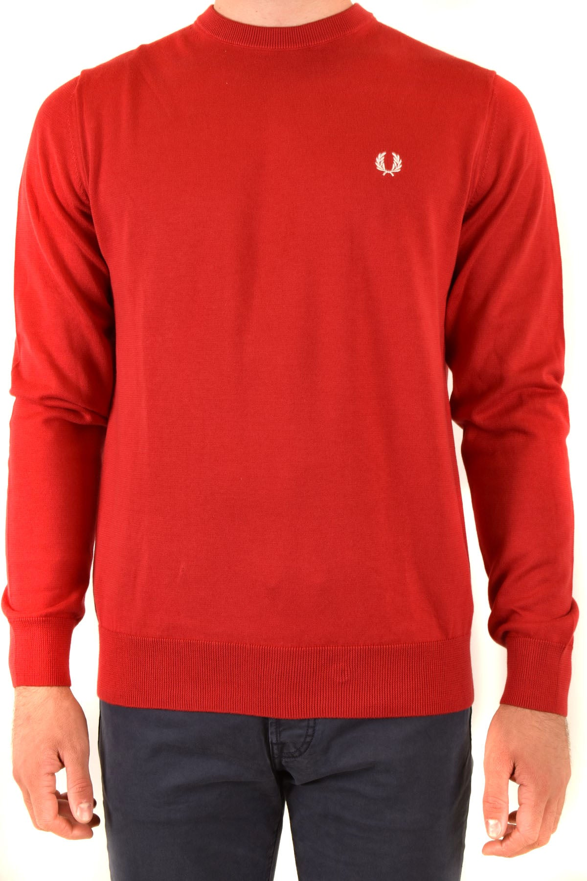 Sweater Fred Perry-Men's Fashion - Men's Clothing - Hoodies & Sweatshirts-XS-Product Details Manufacturer Part Number: K5523 Col 401Year: 2020Composition: Cotton 100%Size: IntGender: ManMade In: ChinaSeason: Fall / WinterMain Color: RedClothing Type: Sweater Terms: New With Label-Keyomi-Sook