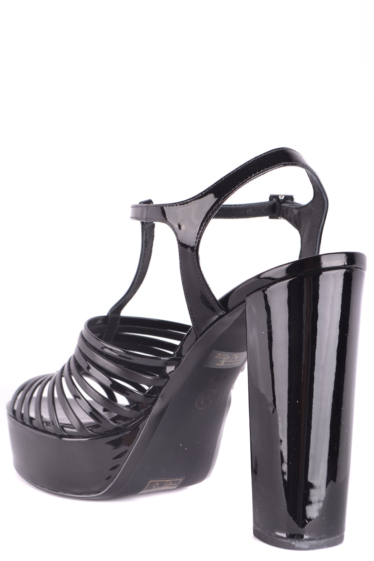 Shoes Michael Kors-Sandals - WOMAN-Product Details Type Of Accessory: ShoesSeason: Spring / SummerTerms: New With LabelHeel'S Height: 13 CmMain Color: BlackGender: WomanMade In: ChinaManufacturer Part Number: 40R8Lehs2ASize: EuYear: 2018Platform'S Height: 3 CmComposition: Leather 100%-Keyomi-Sook