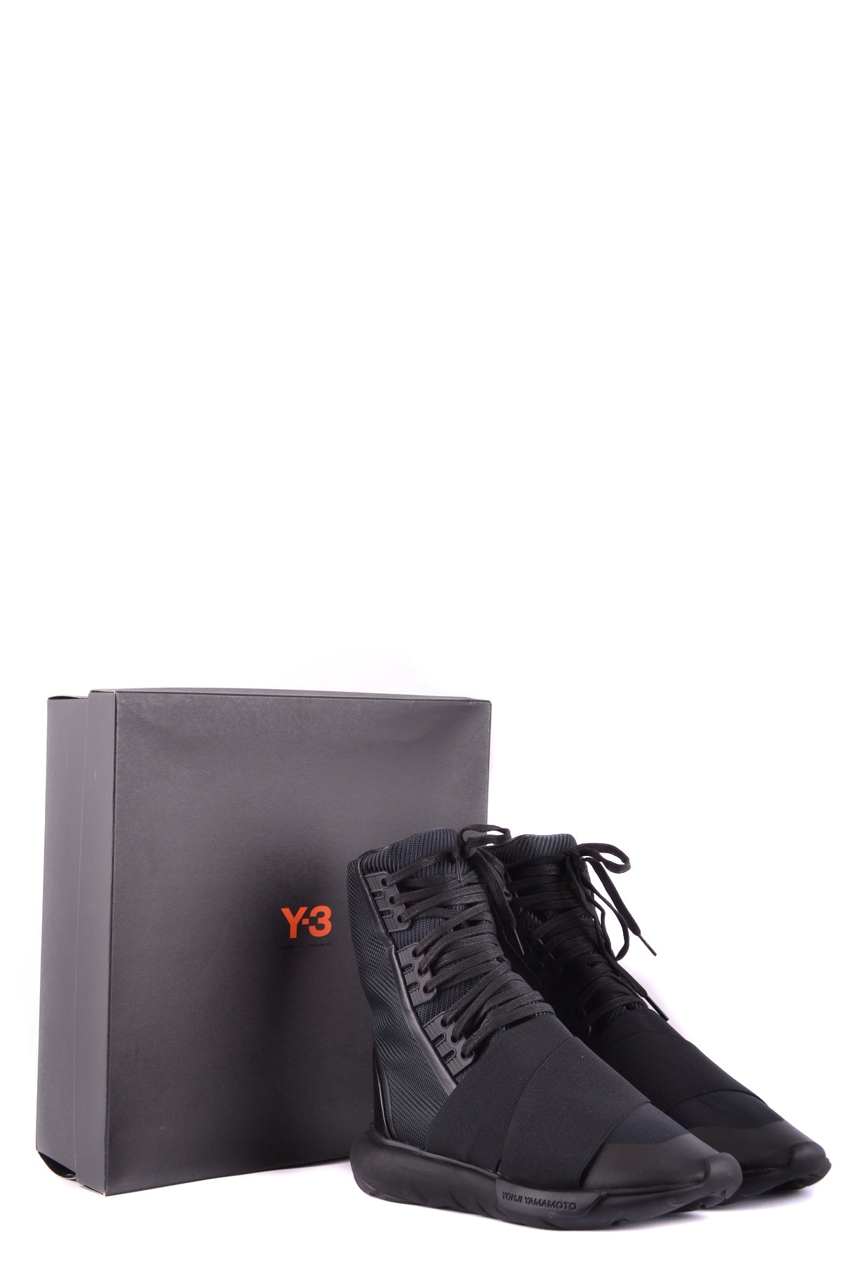 Shoes Y'S Yohji Yamamoto-High-top sneakers - Shoes-Product Details Type Of Accessory: ShoesTerms: New With LabelYear: 2017Main Color: BlackSeason: Fall / WinterMade In: ChinaSize: UkGender: ManComposition: Nylon 100%-Keyomi-Sook