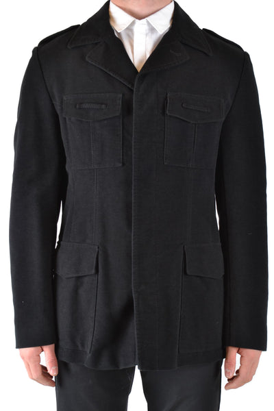 Jacket John Richmond-root - Men - Apparel - Outerwear - Jackets-Product Details Year: 2019Composition: Cotton 94%, Wool 6%Size: ItMade In: ItalySeason: Fall / WinterMain Color: BlackClothing Type: BlousonTerms: New With LabelGender: ManManufacturer Part Number: Zfi1 1809 3890 0990-Keyomi-Sook
