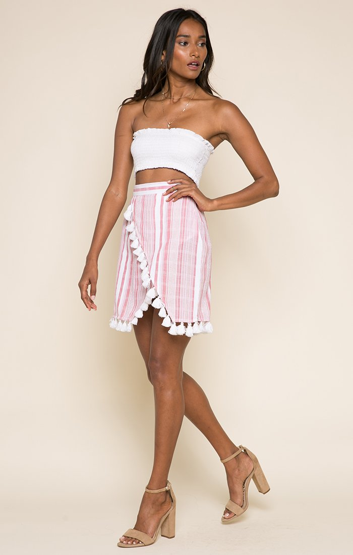 Candy Stripes Short Skirt-Women - Apparel - Skirts - Mini-XS-Keyomi-Sook