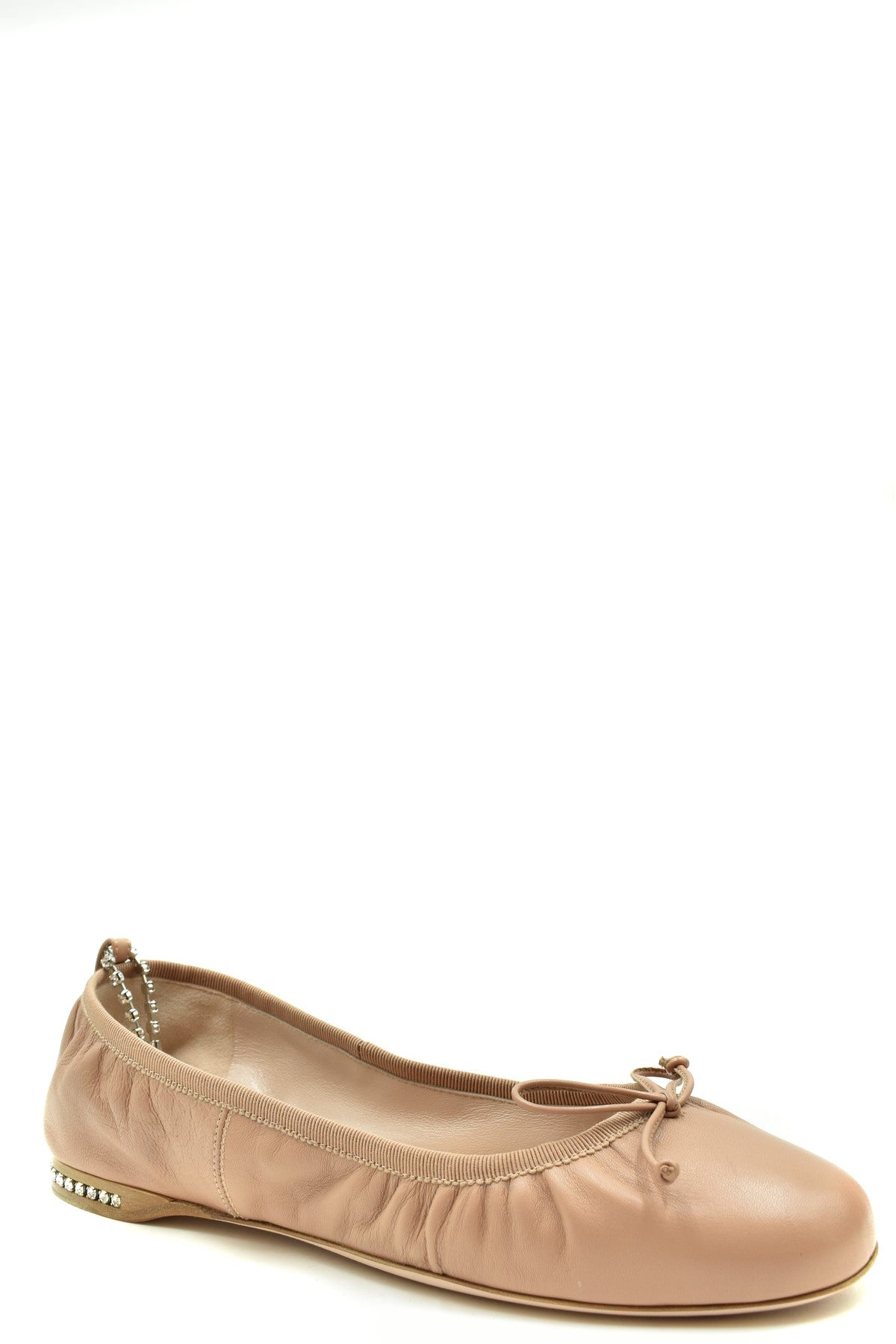Shoes Miu Miu-Women's Fashion - Women's Shoes - Women's Flats-Product Details Terms: New With LabelMain Color: Antique PinkType Of Accessory: ShoesSeason: Spring / SummerMade In: ItalyGender: WomanSize: EuComposition: Leather 100%Year: 2020Manufacturer Part Number: 5F916C 038-Keyomi-Sook