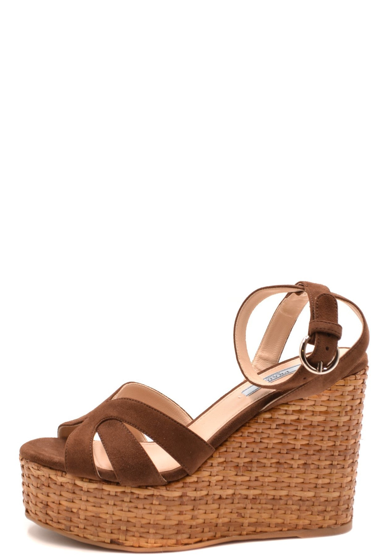 Shoes Prada-Women's Fashion - Women's Shoes - Women's Sandals-Product Details Terms: New With LabelMain Color: MarrónType Of Accessory: ShoesSeason: Spring / SummerMade In: ItalyGender: WomanSize: EuComposition: Chamois 100%Year: 2020Manufacturer Part Number: 1Xz705 008 F0038-Keyomi-Sook