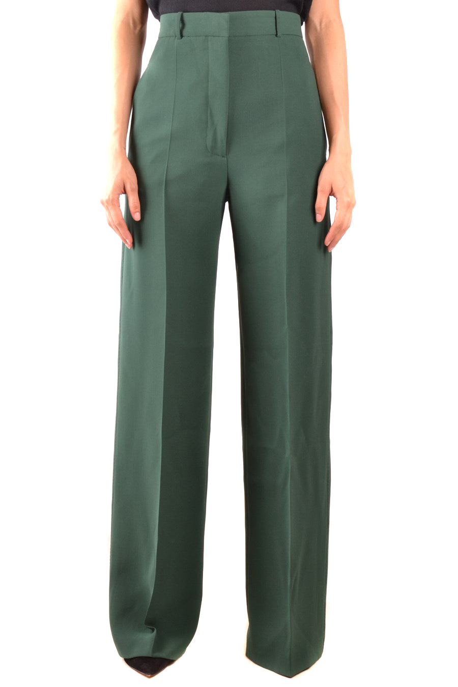 Trousers Burberry-Trousers - WOMAN-38-Product Details Terms: New With LabelYear: 2018Main Color: GreenGender: WomanMade In: RomaniaManufacturer Part Number: 8001948 A1472Size: ItSeason: Fall / WinterClothing Type: TrousersComposition: Wool 12%, Silk 88%-Keyomi-Sook