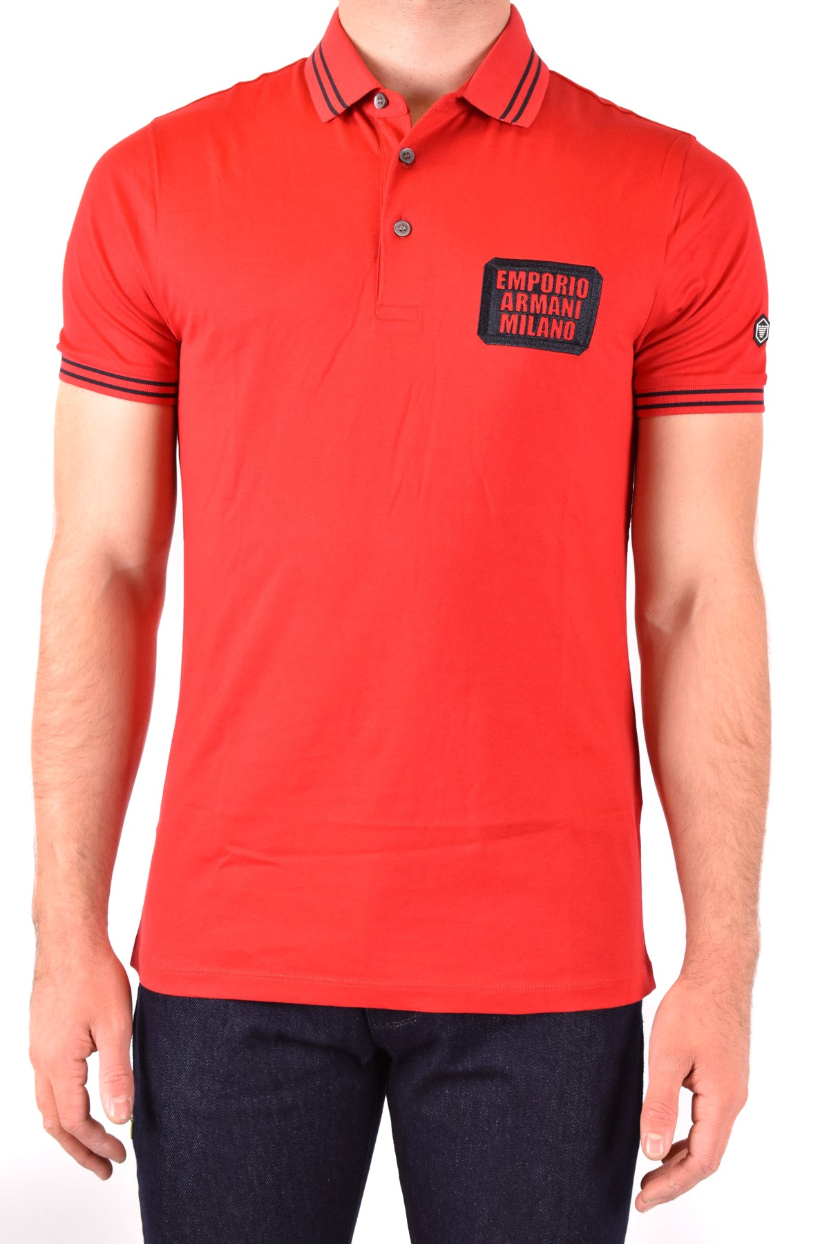 Polo Emporio Armani-Men's Fashion - Men's Clothing - Tops & Tees - Polo-M-Product Details Terms: New With LabelClothing Type: PoleMain Color: RedSeason: Spring / SummerMade In: VietnamGender: ManSize: IntComposition: Cotton 100%Year: 2020Manufacturer Part Number: 3H1Fn4 1Jcqz F320-Keyomi-Sook