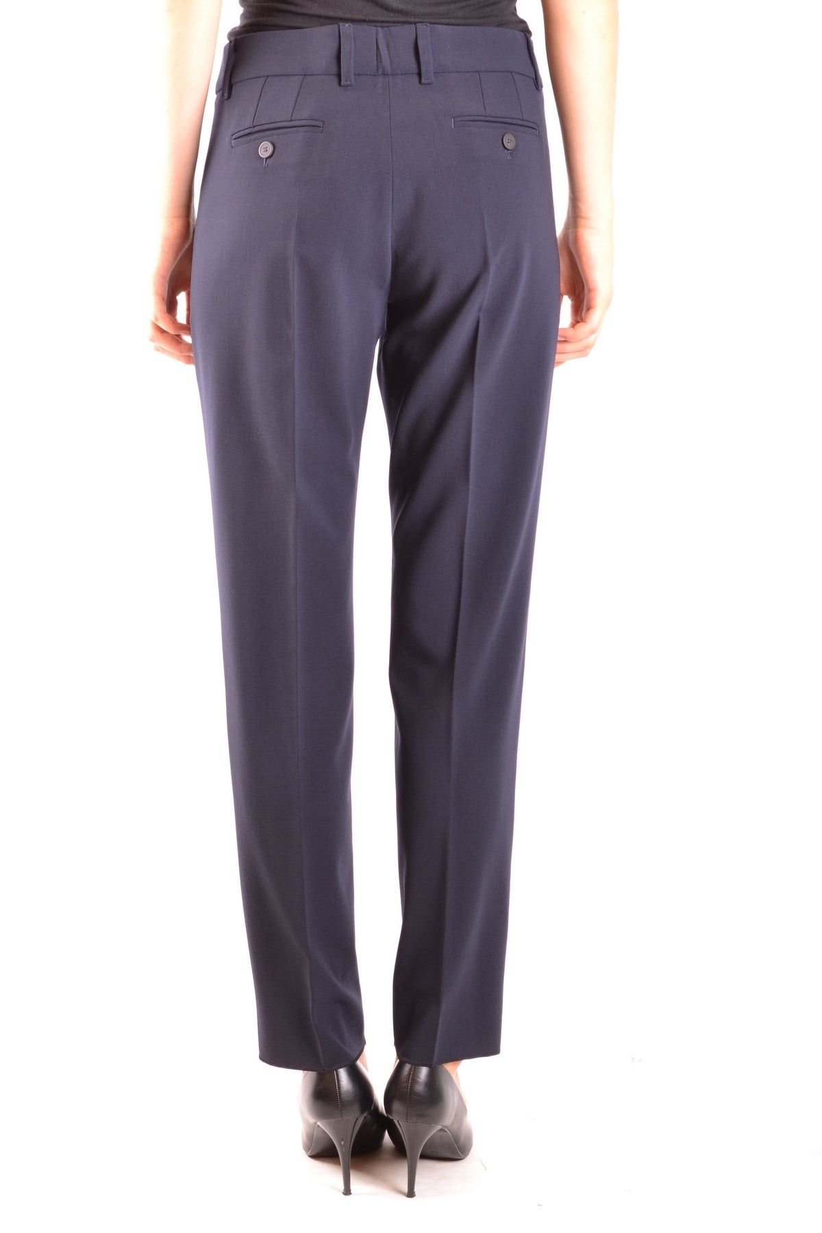 Trousers Armani Collezioni-Trousers - WOMAN-Product Details Season: Fall / WinterTerms: New With LabelMain Color: BlueGender: WomanMade In: RomaniaManufacturer Part Number: Vmp08T Vm008Size: ItYear: 2018Clothing Type: TrousersComposition: Elastane 4%, Wool 96%-Keyomi-Sook