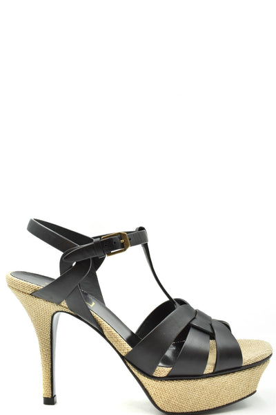 Shoes Saint Laurent-Women's Fashion - Women's Shoes - Women's Sandals-36-Product Details Terms: New With LabelMain Color: BlackType Of Accessory: ShoesSeason: Spring / SummerMade In: ItalyGender: WomanHeel'S Height: 9 CmSize: EuComposition: Leather 50%, Tissue 50%Year: 2020Manufacturer Part Number: 606600 Dwe00 100-Keyomi-Sook