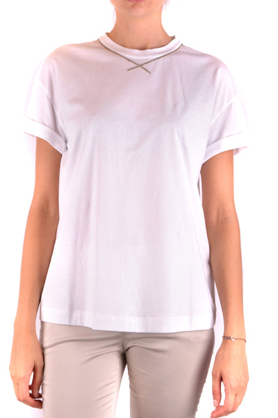 Tshirt Short Sleeves Brunello Cucinelli-Tshirt Short Sleeves - WOMAN-Product Details Season: Spring / SummerTerms: New With LabelMain Color: WhiteGender: WomanMade In: ItalyManufacturer Part Number: M0045D3810 C159Size: IntYear: 2018Clothing Type: Sweater Composition: Cotton 100%-Keyomi-Sook