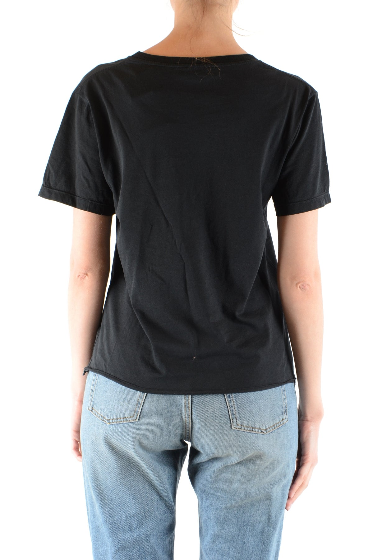 Tshirt Short Sleeves Saint Laurent-Tshirt Short Sleeves - WOMAN-Product Details Terms: New With LabelMain Color: BlackSeason: Spring / SummerMade In: ItalyManufacturer Part Number: 510973/ Yb2Ql1030Size: IntGender: WomanYear: 2018Clothing Type: T-Shirt-Keyomi-Sook
