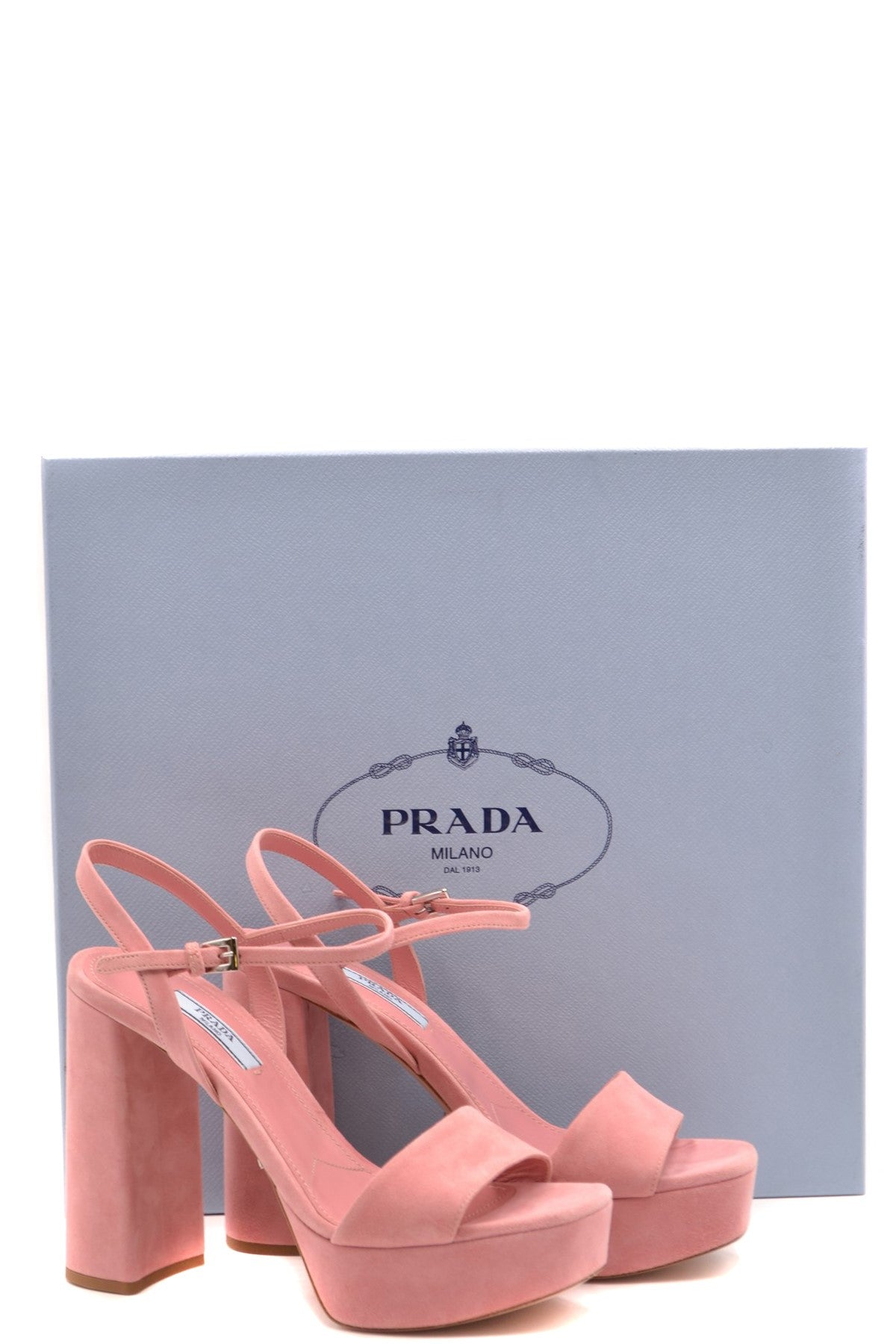 Shoes Prada-Women's Fashion - Women's Shoes - Women's Sandals-Product Details Terms: New With LabelMain Color: PinkType Of Accessory: ShoesSeason: Spring / SummerMade In: ItalyGender: WomanHeel'S Height: 12Size: EuComposition: Chamois 100%Year: 2020Manufacturer Part Number: 1Xp75A 008 F0025-Keyomi-Sook