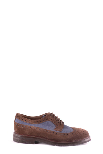 Shoes Brunello Cucinelli-Derby - Shoes-39.5-Product Details Type Of Accessory: ShoesSeason: Spring / SummerTerms: New With LabelMain Color: MarrónGender: ManMade In: ItalyManufacturer Part Number: Mzuouf93 Size: EuYear: 2017Composition: Chamois 70%, Tissue 30%-Keyomi-Sook