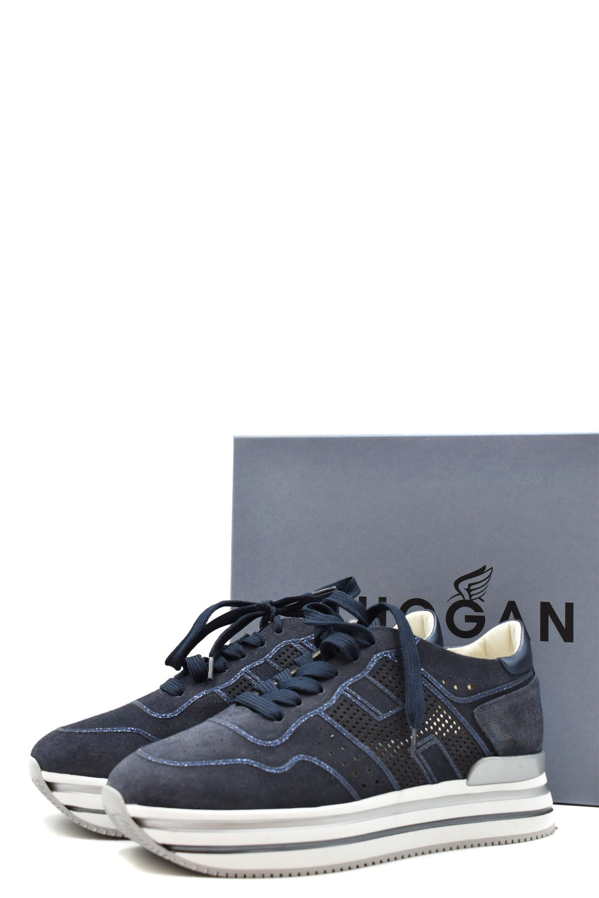 Shoes Hogan-Sports & Entertainment - Sneakers-Product Details Manufacturer Part Number: Hxw4830Cq10Idz0QqvYear: 2020Composition: Leather 100%Size: EuGender: WomanMade In: ItalySeason: Fall / WinterType Of Accessory: ShoesMain Color: BlueTerms: New With Label-Keyomi-Sook