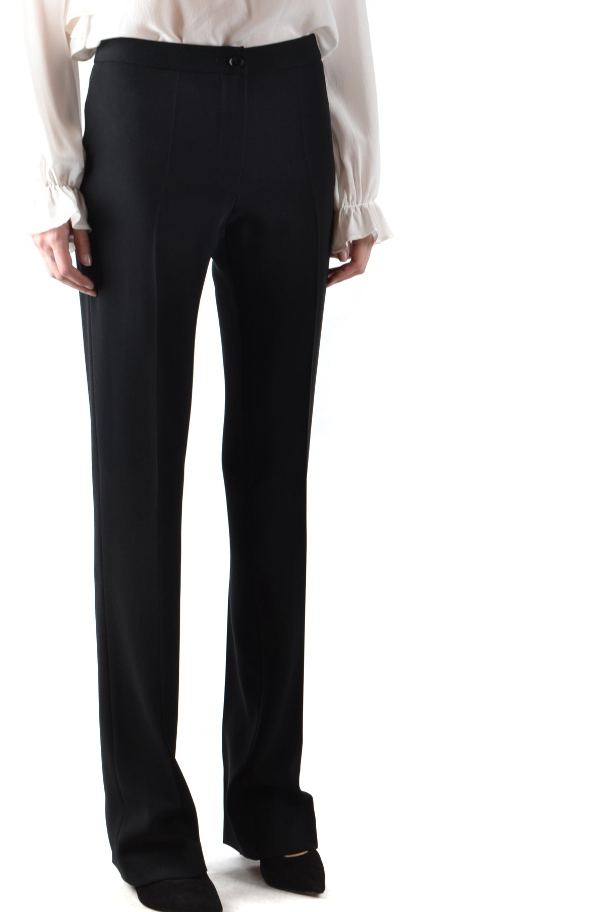 Trousers Boutique Moschino-Trousers - WOMAN-Product Details Season: Fall / WinterTerms: New With LabelMain Color: BlackGender: WomanMade In: ItalyManufacturer Part Number: Ra0302Size: ItYear: 2018Clothing Type: TrousersComposition: Acetate 70%, Polyester 30%-Keyomi-Sook