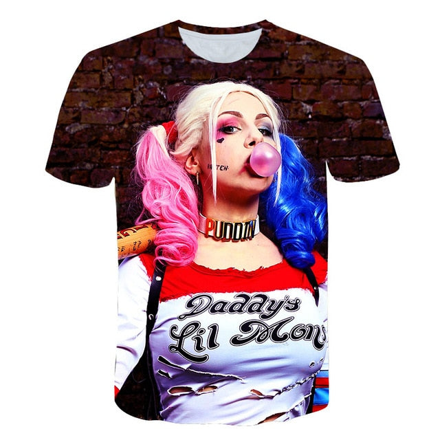 Men And Women Suicide Squad Men'S T-Shirts-Boys Graphic Tees-243-4XL-Keyomi-Sook