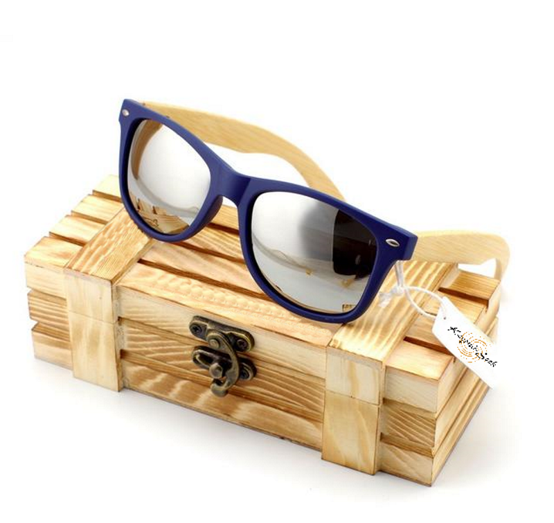 Vintage Style Men'S Or Women'S Bamboo Wood Sunglasses-Unisex Sunglasses-Silver-Keyomi-Sook