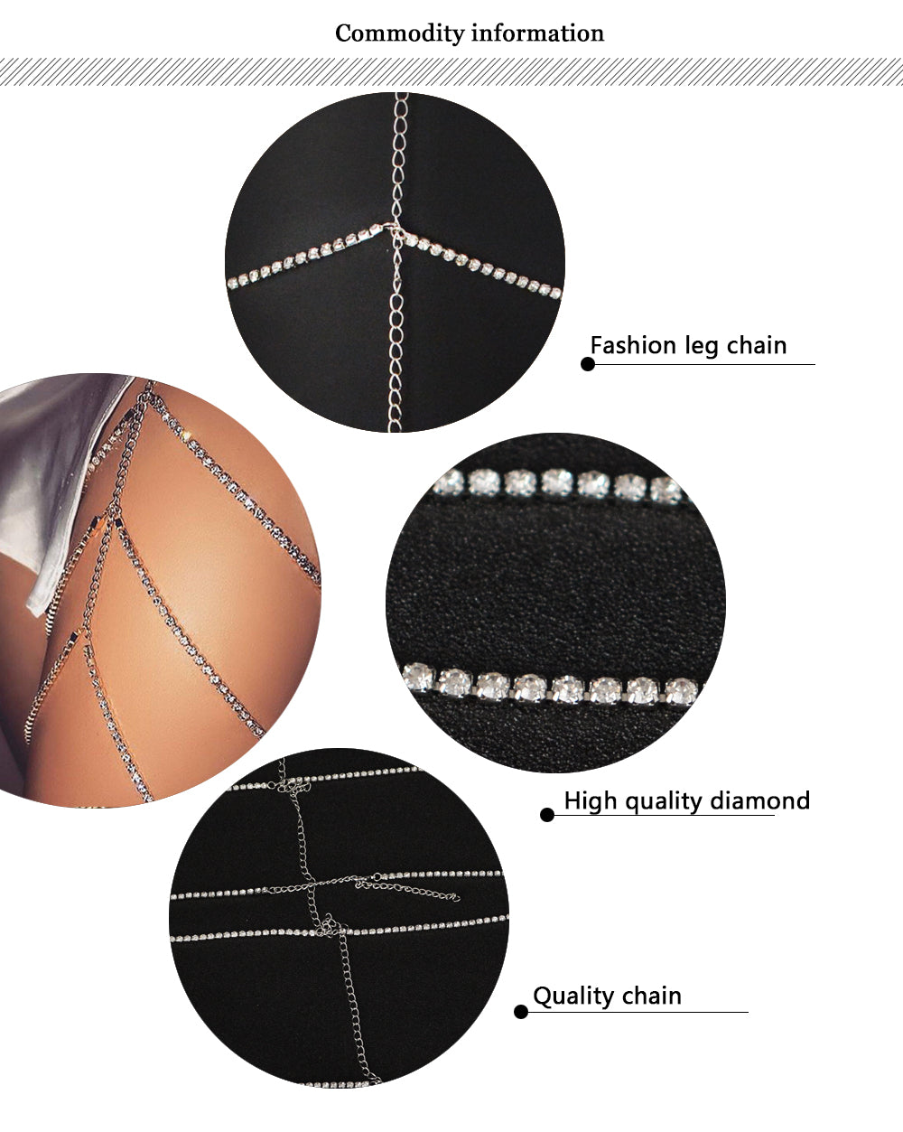 Free Sexy Multilayer Crystal Thigh Chain-Free-gold-Keyomi-Sook