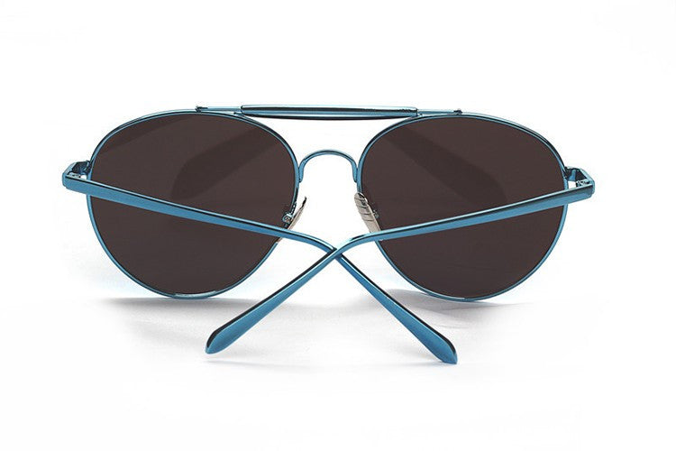 Ladies Popular Big Frame Pilot Sun Glasses The Newest Trend-Ladies Sun Glasses-Blue/Blue C3-Keyomi-Sook