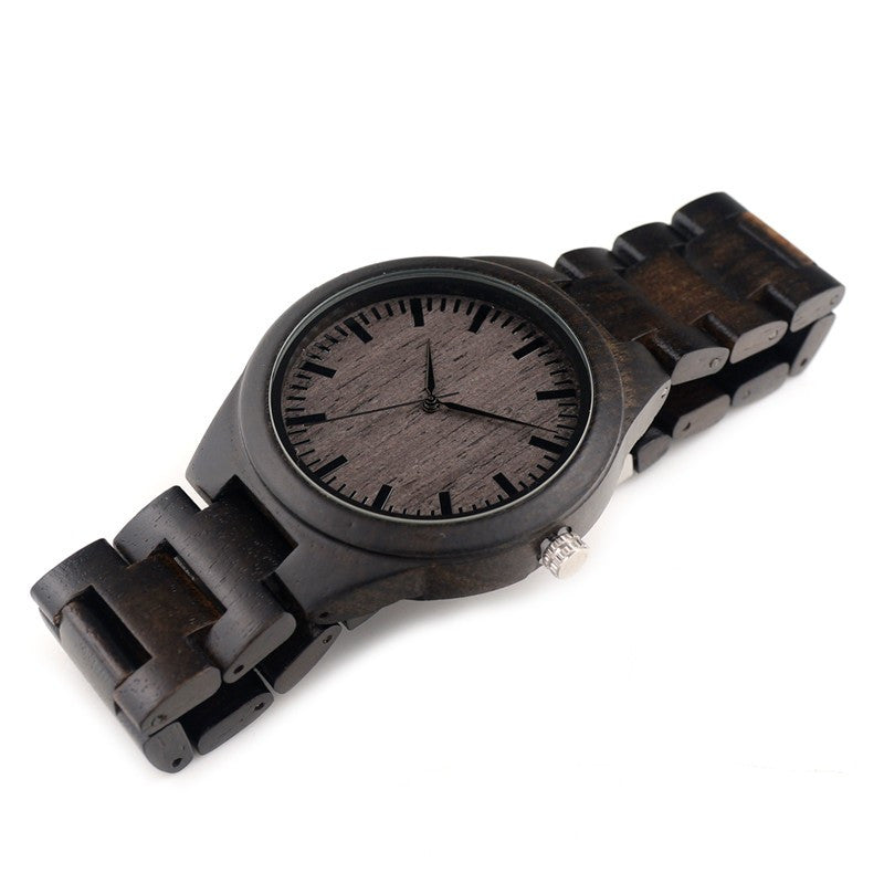 Ebony Colour Wooden Mens Watch-Men's Watch-Without Dial H06-Keyomi-Sook