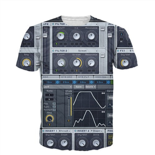 Men'S 3D Graphic Equalizer Synthesizer T-Shirts-Multi Color 6-(L) 37, 15, 26 IN-Keyomi-Sook