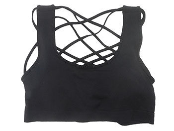 Criss Cross Bralette Black  - Bella Vita Chic Boutique