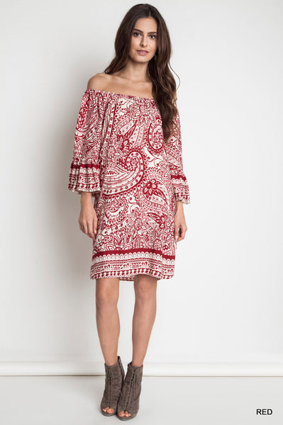 Paisley day dress  - Bella Vita Chic Boutique