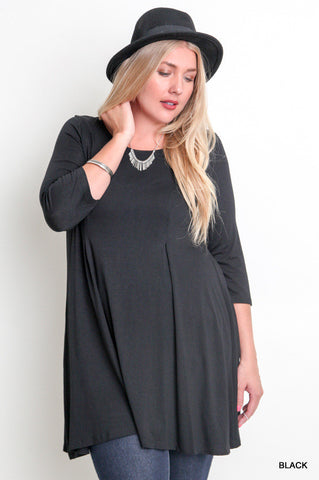 3/4 sleeve relaxed fit dress  - Bella Vita Chic Boutique