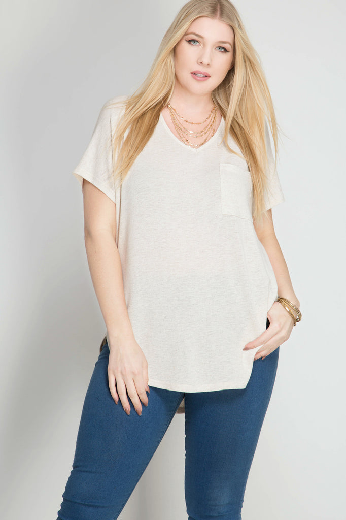 Short sleeve shirt with pocket  - Bella Vita Chic Boutique