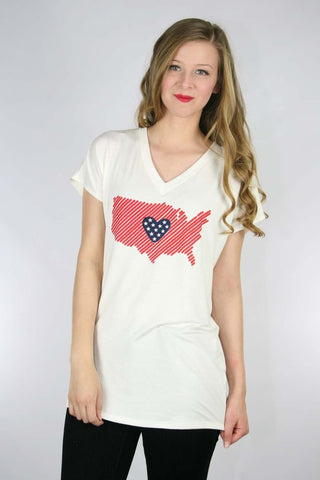 American tunic  - Bella Vita Chic Boutique