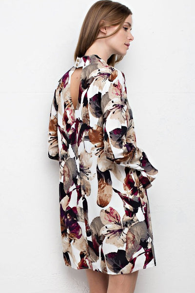 Printed floral dress  - Bella Vita Chic Boutique