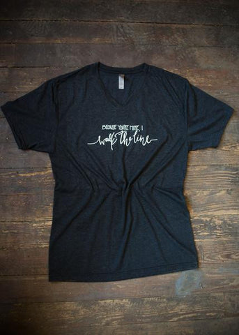 Because you're mine v-neck tee  - Bella Vita Chic Boutique