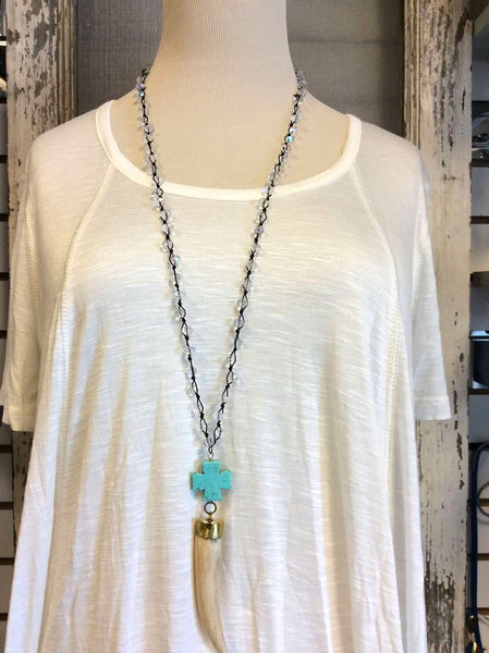 Chinese knotted crystal necklace  - Bella Vita Chic Boutique