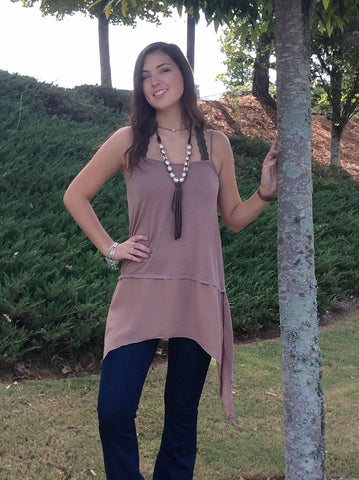 Cami with chiffon layers dress extender  - Bella Vita Chic Boutique
