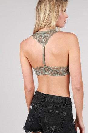 Halter lace trim bralette  - Bella Vita Chic Boutique