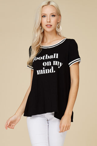 Football On My Mind Graphic Tee  - Bella Vita Chic Boutique