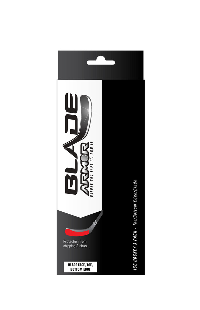 3 PAK for Complete Hockey Blade Protection - Blade Edge, Blade Face & Toe Tip
