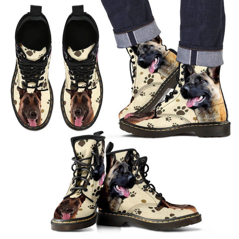 Belgian Malinois Print Boots For Men-Express Shipping