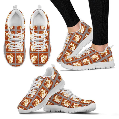 Jack Russell Terrier Pattern Print Sneakers For Women- Express Shipping